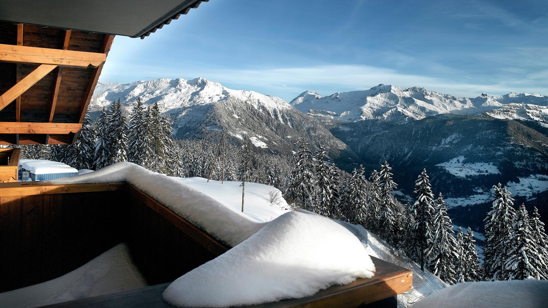 Extérieur hiver, Les Alpages de Champagny - CGH Résidences