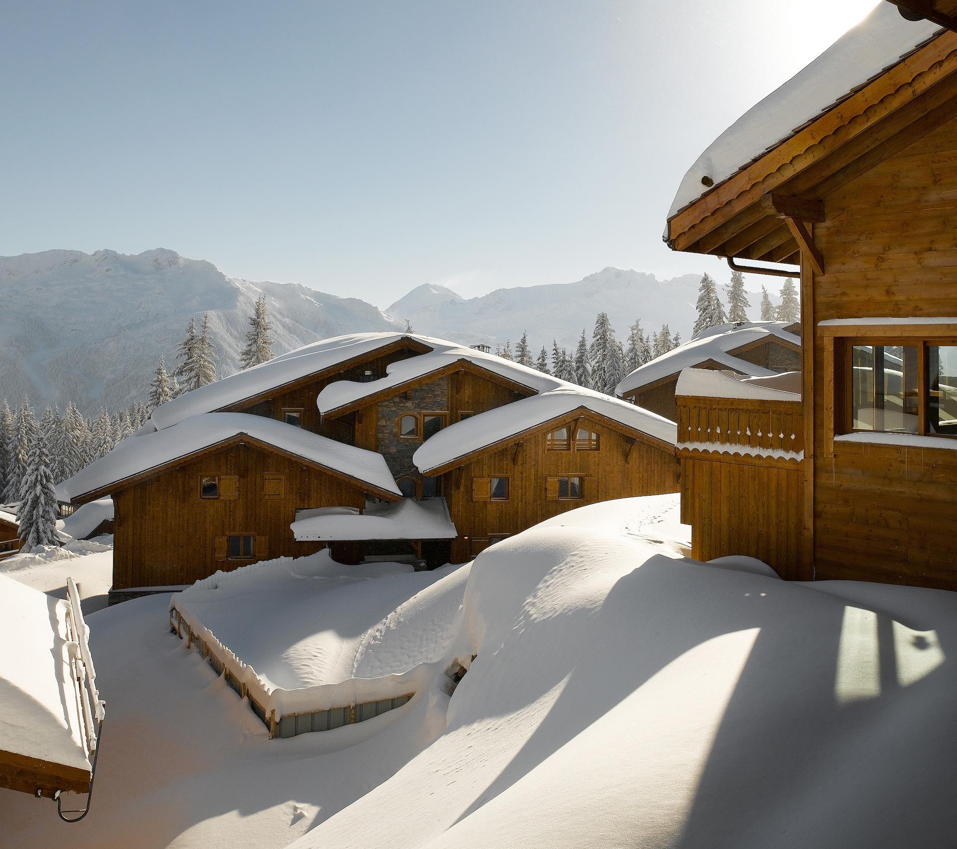 Extérieur hiver, Le Hameau du Beaufortain - CGH Résidences