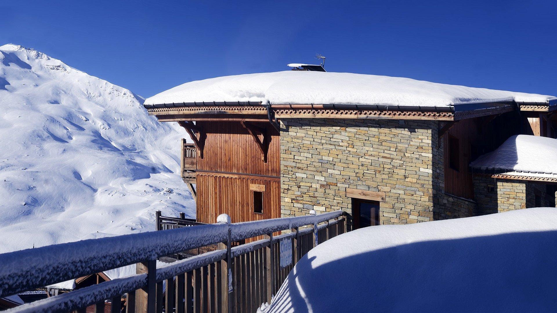 Extérieur hiver, Les Chalets du Soleil - CGH Résidences