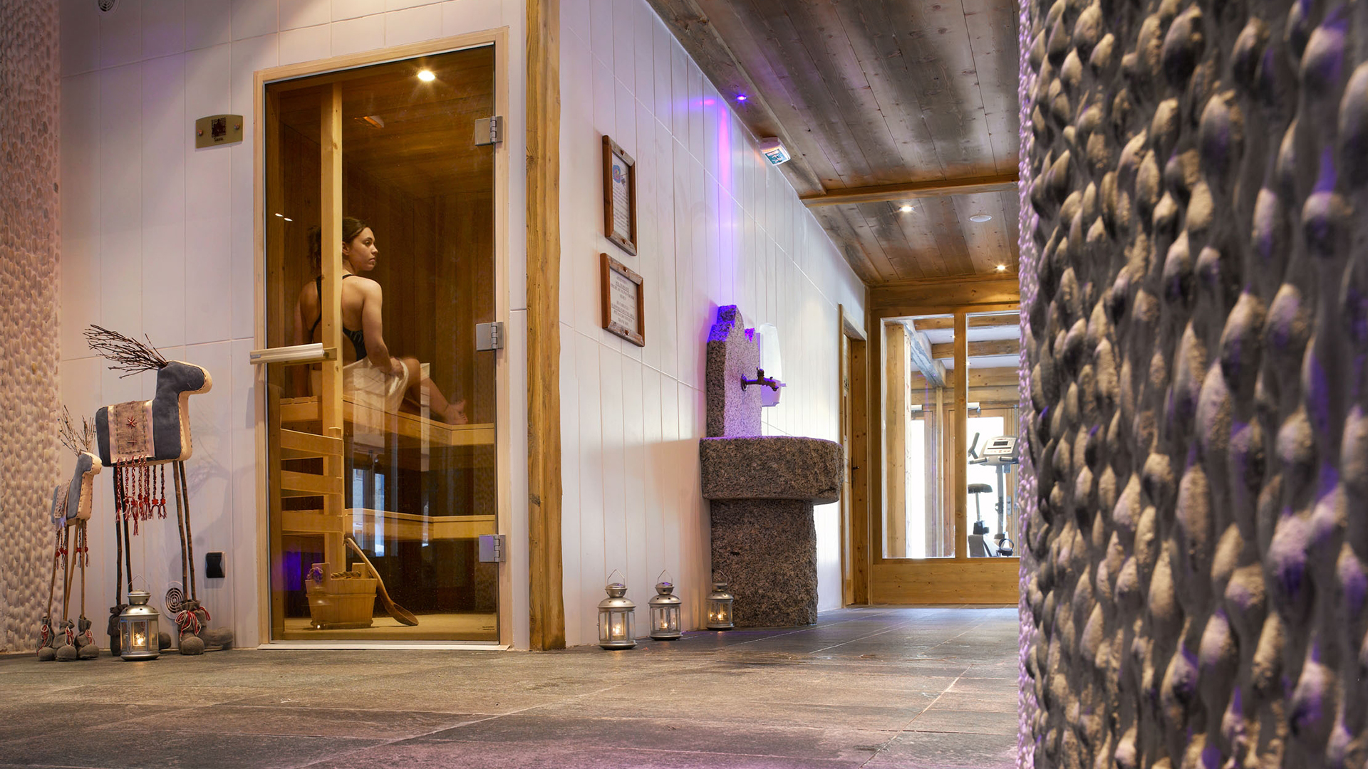 Sauna, Le Hameau de Pierre Blanche - CGH Résidences