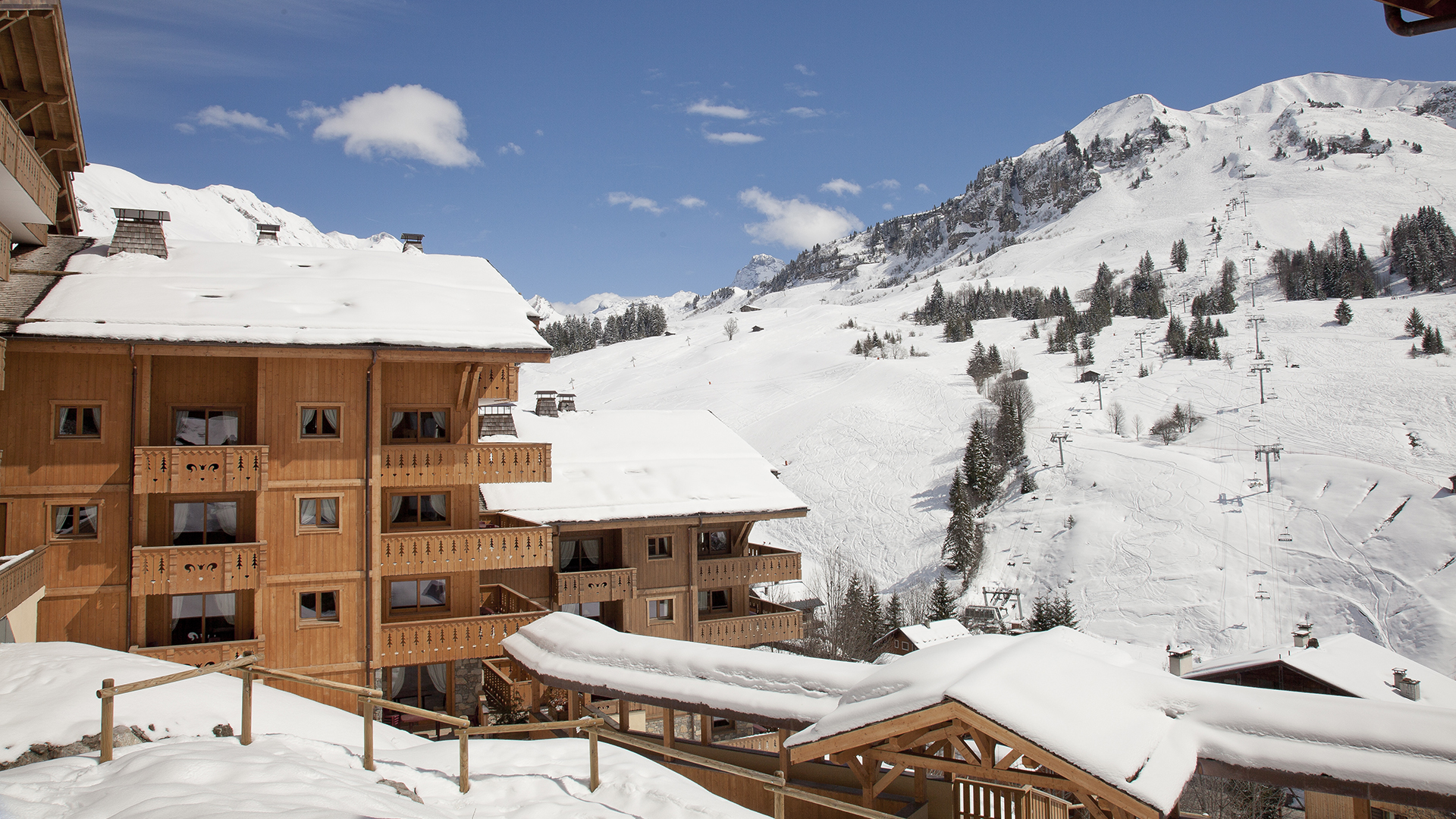 Extérieur hiver, Le Village de Lessy - CGH Résidences